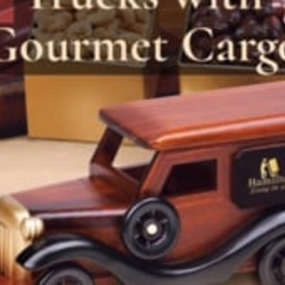 Wooden Classic Trucks with Gourmet Cargo